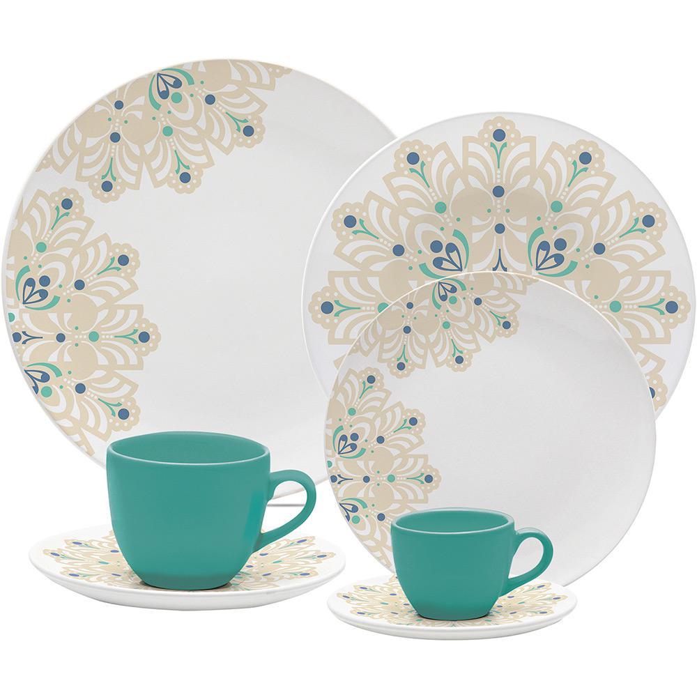 Aparelho De Jantar 20 Peças Porcelana Lindy Hop Oxford