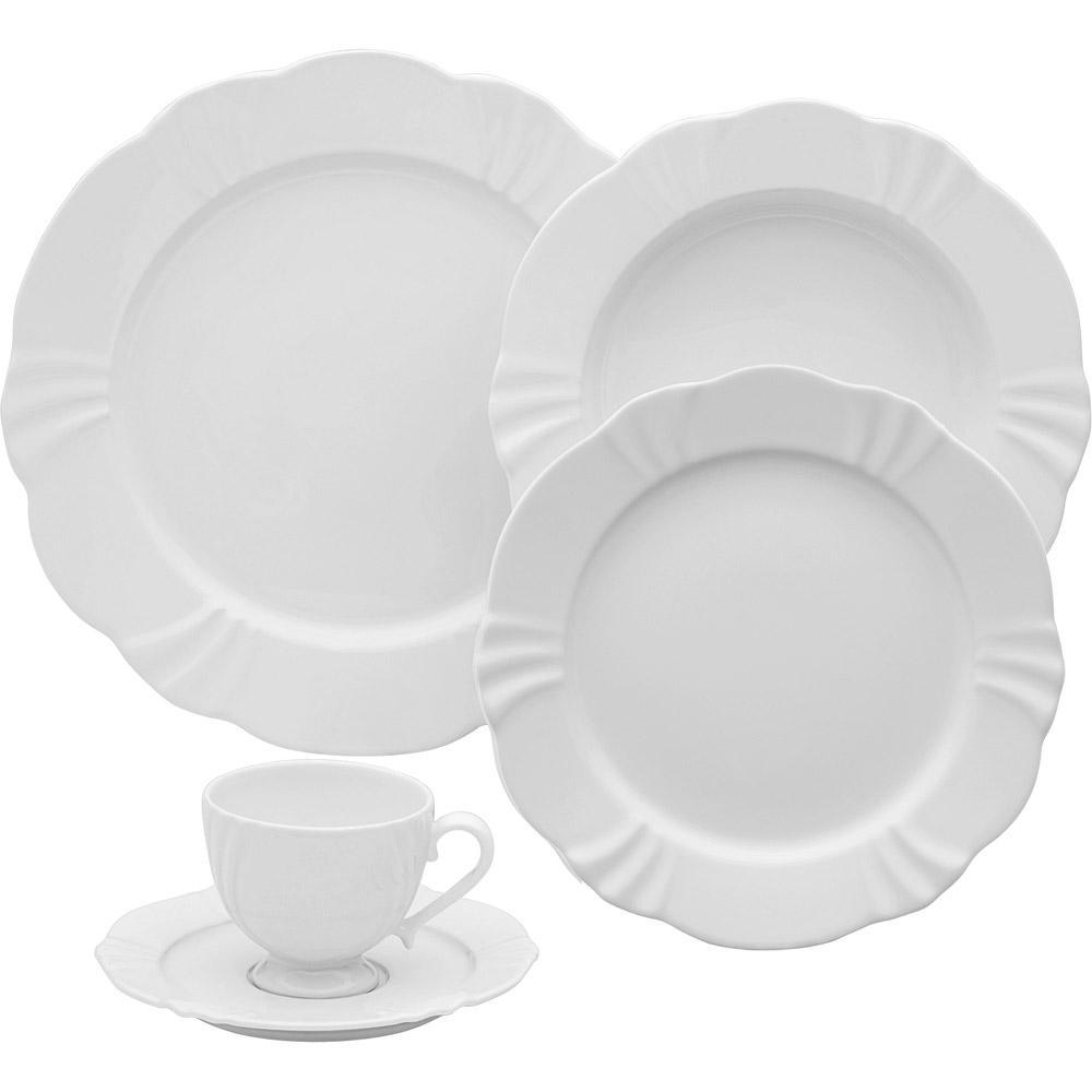 Aparelho de Jantar Oxford Porcelanas 42 Peças Soleil White é bom  Vale a  pena  adad03d76a8