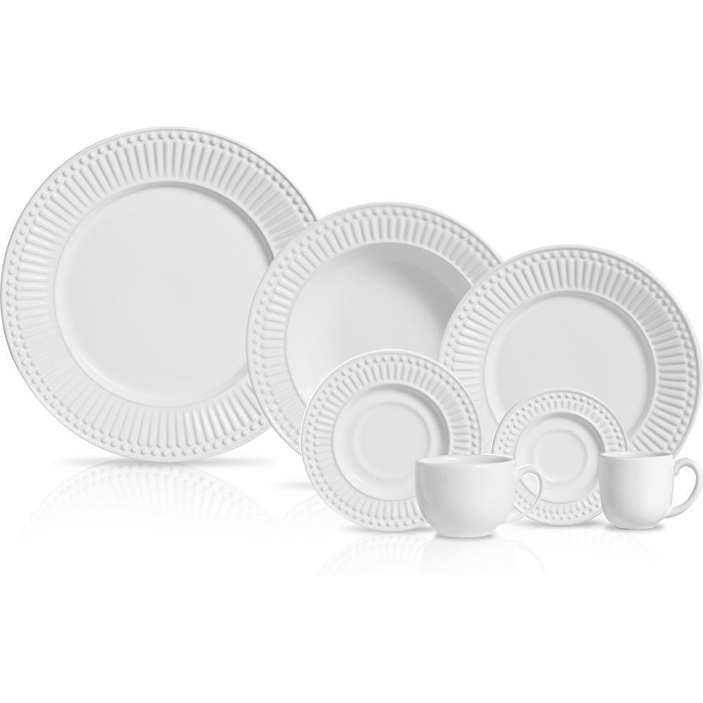 Aparelho de Jantar Porto Brasil Roma Branco - 42 peças é bom  Vale a pena 7fc01cf8502