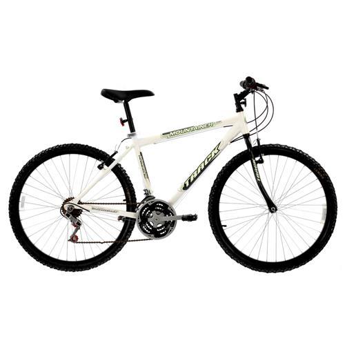 e3c312a7a Bicicleta Aro 26 Track Bikes Mountainer Alumínio com 18 Marchas - Branca é  bom  Vale