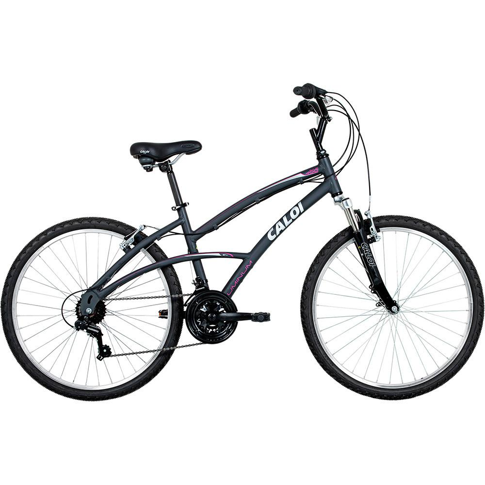 f000dfb58 Bicicleta Caloi 400 Feminina Aro 26 21 Marchas - Cinza é bom  Vale a pena