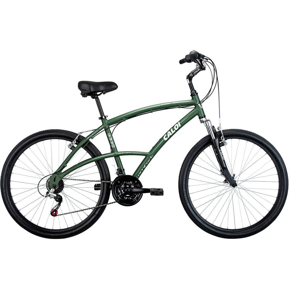 58257e5cd → Bicicleta Caloi 500 M aro 26 21 marchas Verde é bom  Vale a pena