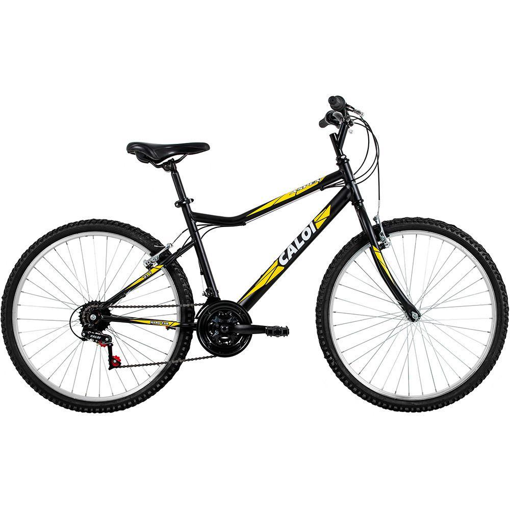 b6f57e589 Bicicleta Caloi Aspen Aro 26 21 Marchas MTB - Preto/Amarelo é bom? Vale