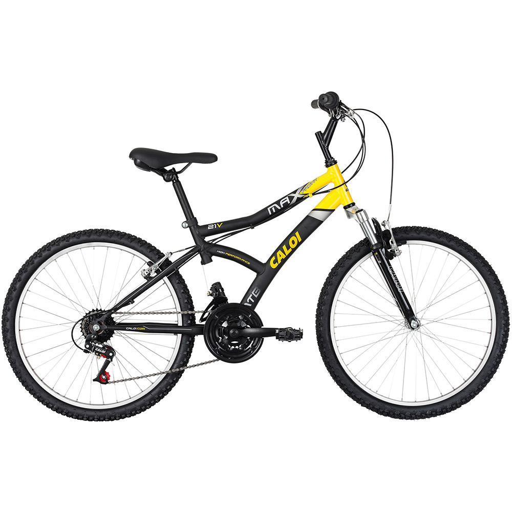 aafaf4186 Bicicleta Caloi Max Front Aro 24 21 Marchas MTB - Preto é bom  Vale a
