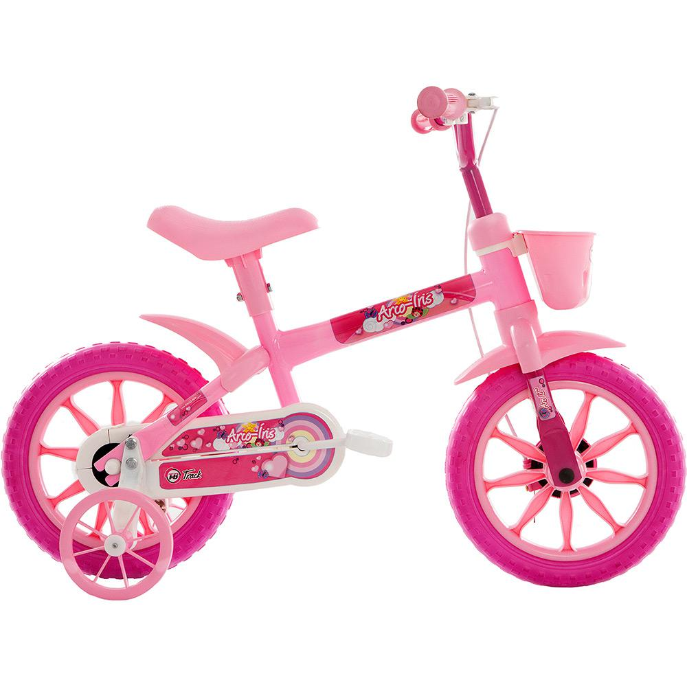 8bbf6135a Bicicleta Feminina Track   Bikes Arco-Íris Aro 12