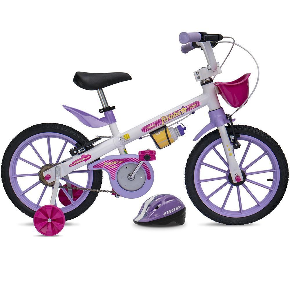 832a70f85 Bicicleta Fischer Infantil Aro 16 Ferinha Super 17342 Branco Lilás é bom   Vale a pena