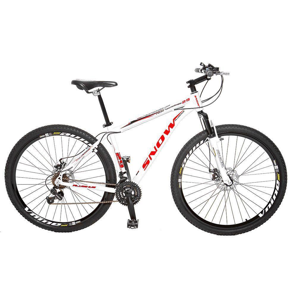 d4f377982 Bicicleta Snow Mtb Aro 29 21 Marchas Shimano Suspensão Dianteira Freios A  Disco Branco é bom  Vale a pena