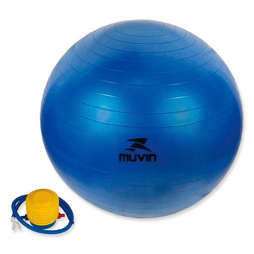 → Bola de Ginástica 55cm Azul - Muvin é bom  Vale a pena  25a05ba7d084d