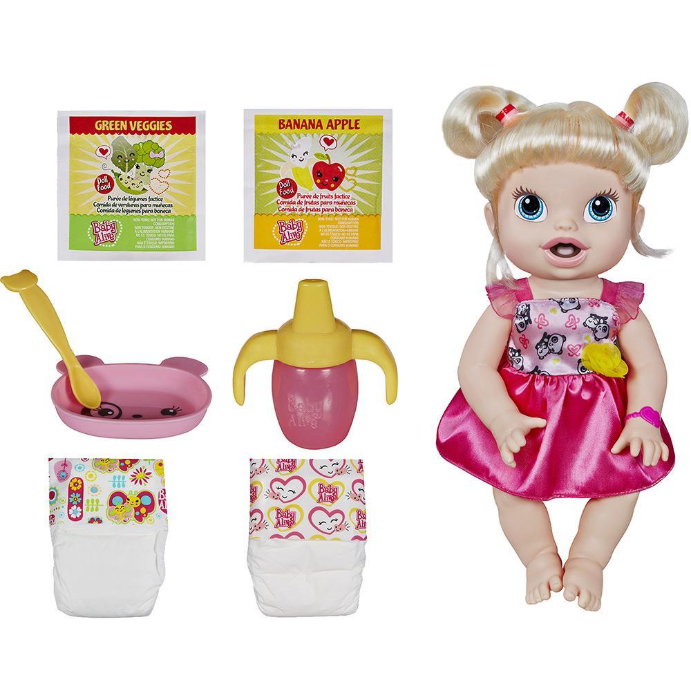 9a2cb31b21 → Boneca Baby Alive Hora de Comer Loira - Hasbro é bom  Vale a pena