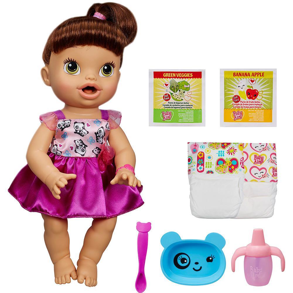 19b870f892 → Boneca Baby Alive Hora de Comer Morena - Hasbro é bom  Vale a pena