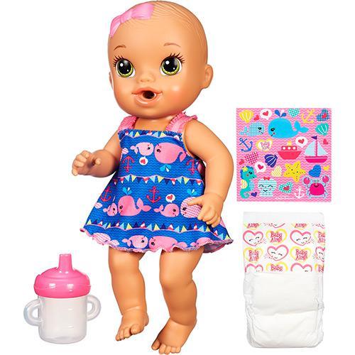 4118ae1e1d Boneca Baby Alive Hora do Xixi Náutica Morena - Hasbro é bom  Vale a pena