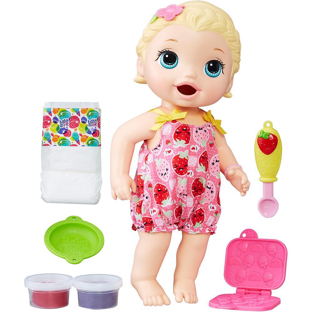 ab9b61dfe9 → Boneca Baby Alive Lanchinho Loira C2697 - Hasbro É BOM  VALE A ...