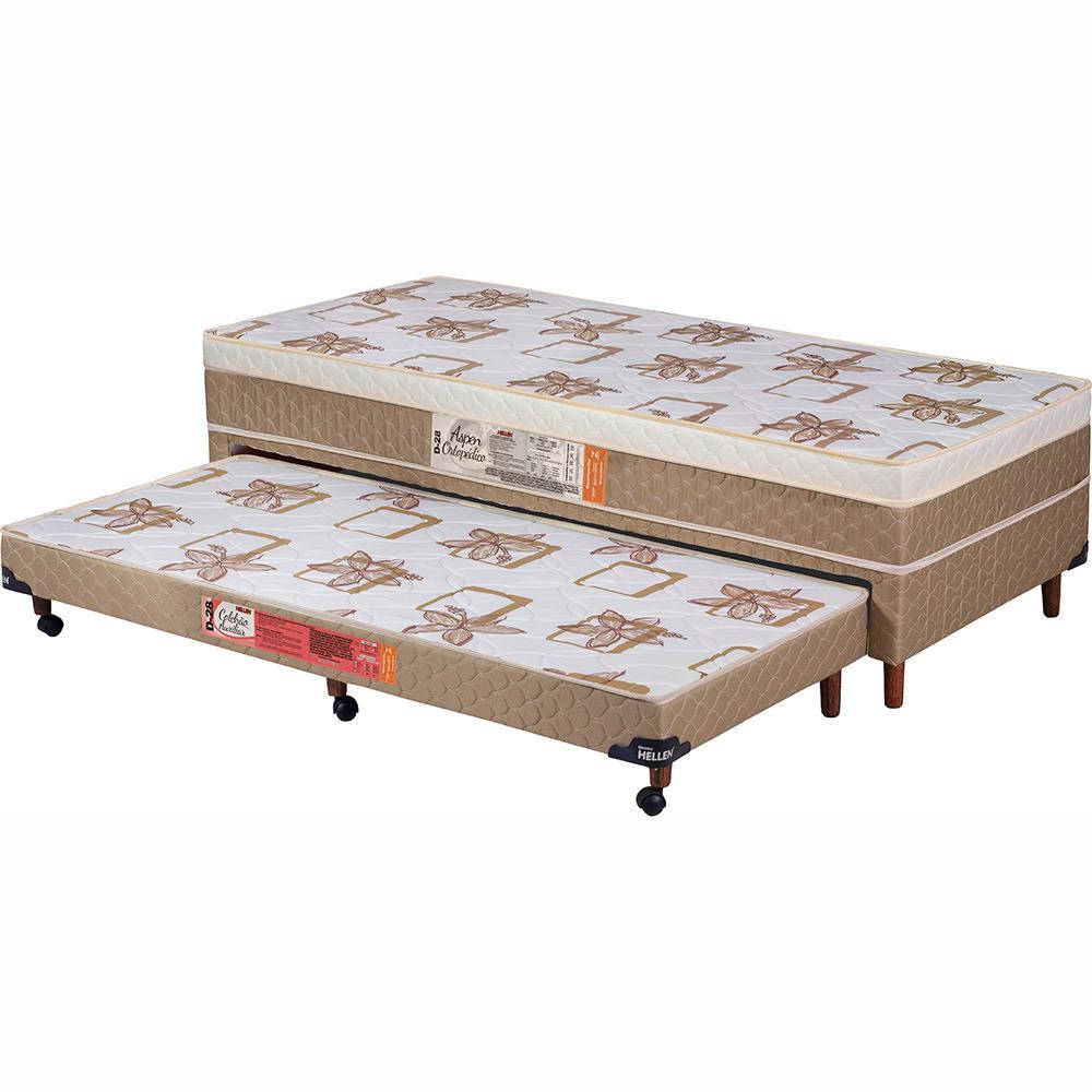 5f0512185 Cama Box Conjugado Solteiro (Box + Colchão) Hellen Aspen Ortopédico Caqui -  88x188x53cm é