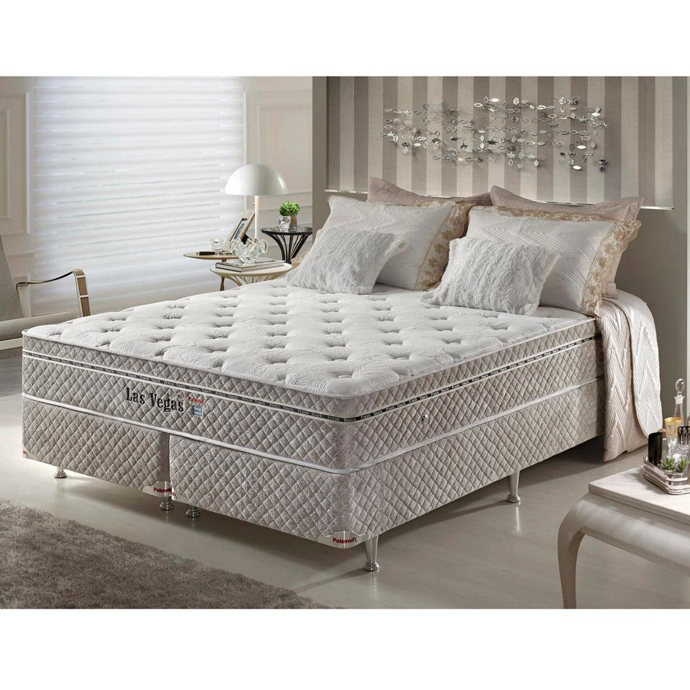 9981af3b9 Cama Box King Size Molas Ensacadas High Support Php Las Vegas Fresh Touch -  Firmeza -