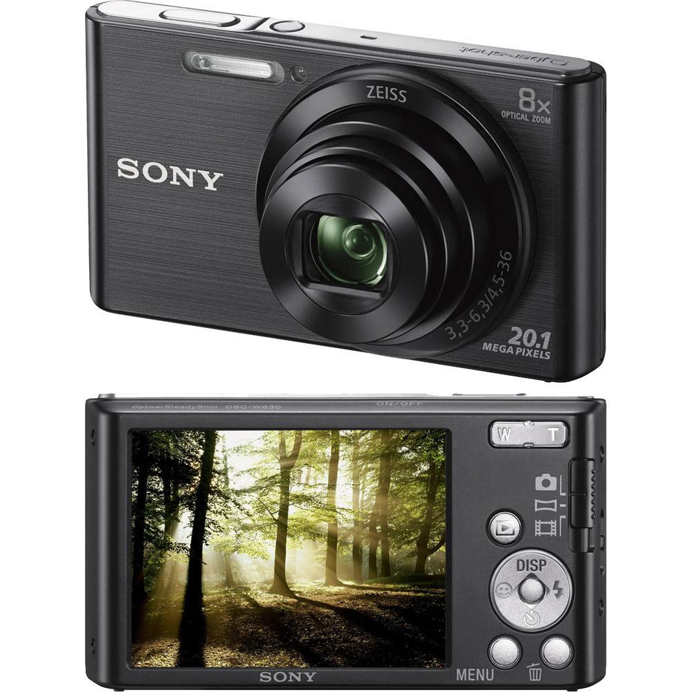 Câmera Digital Sony W830 20.1MP, 8x Zoom Óptico, Foto panorâmica, Vídeos HD,  Lentes Carl Zeiss, Preta, Cartão de Memória 4GB é bom  Vale a pena  55b8e0d769