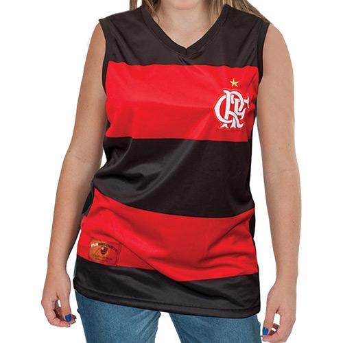 8c2dfe61307df Camisa Regata Braziline Feminina Flamengo Hoop Decote V é bom  Vale a pena