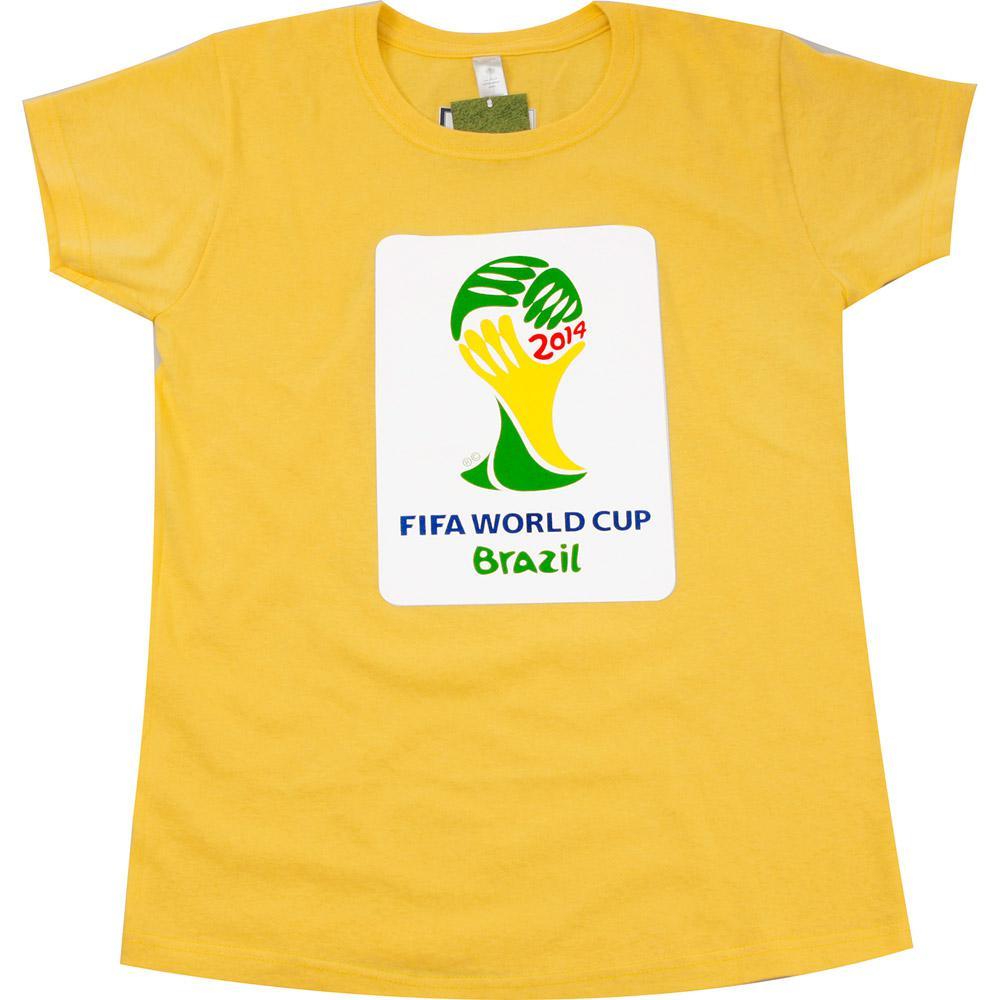 → Camiseta 1 Copa do Mundo FIFA 2014 Brasil Amarela - P é bom  Vale ... d5c5b15394bdf