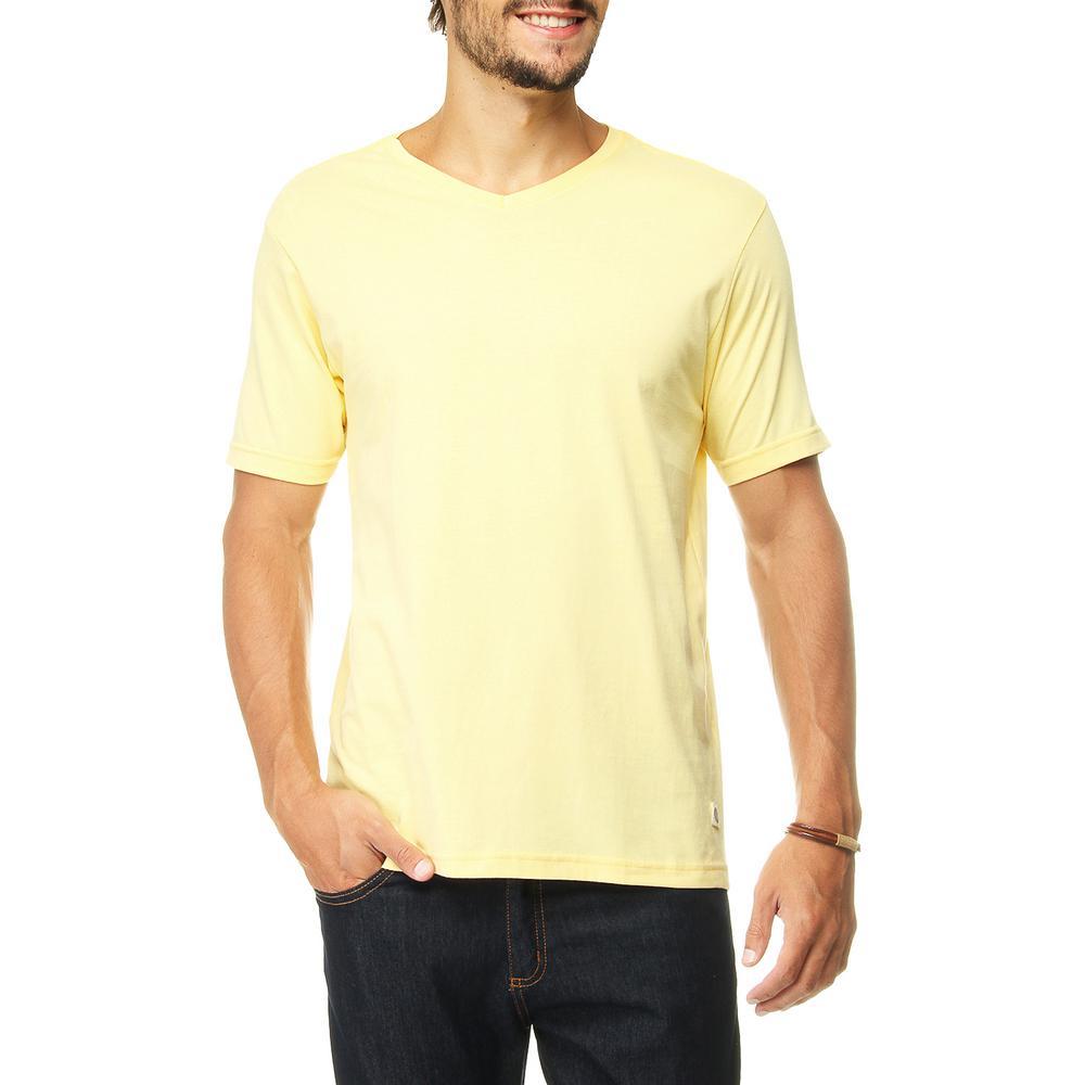 17d0f1ab2a → Camiseta Flamê Básica LUK Gola V É BOM  VALE A PENA