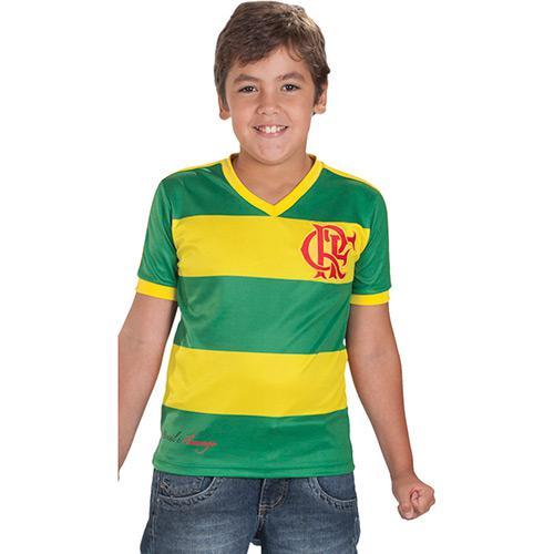 c34ced4bf8 Camiseta Infantil Braziline Flamengo Verde e Amarela é bom  Vale a pena