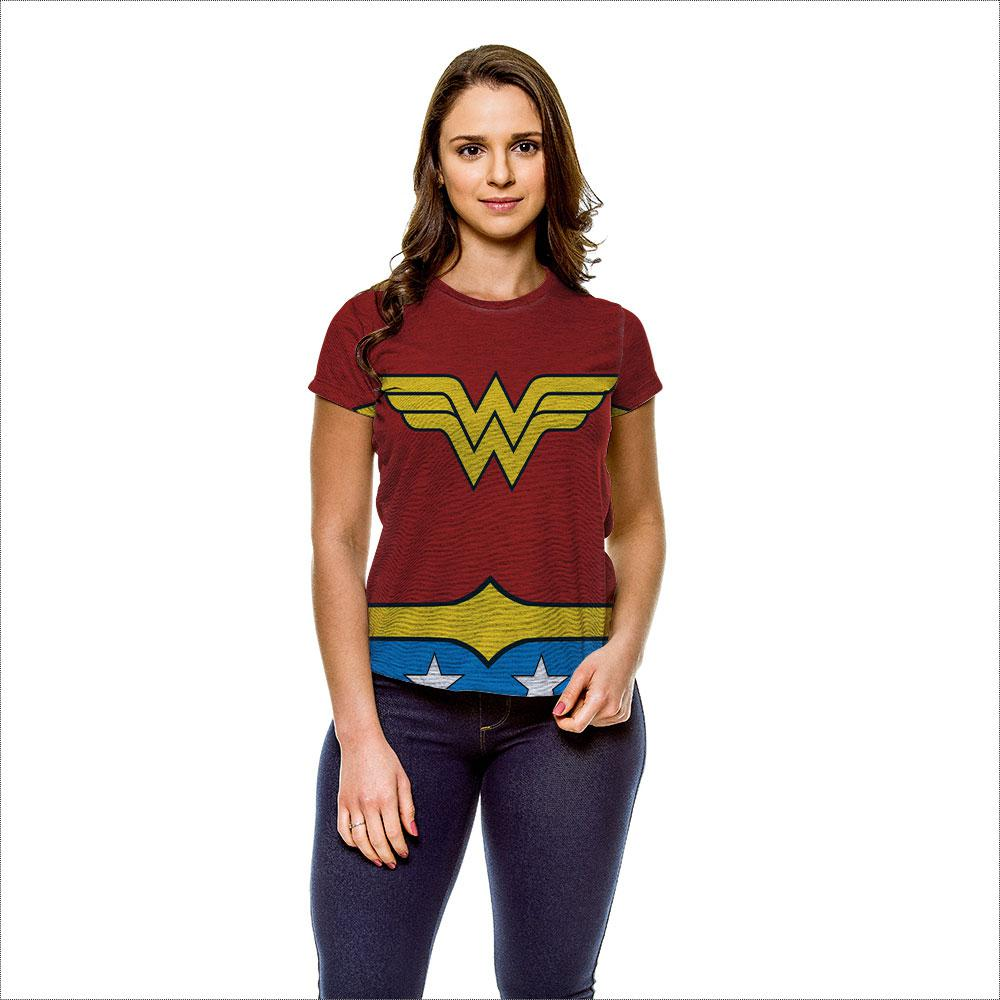 edc96f351 → Camiseta Mulher Maravilha Traje Cinza Feminina é bom  Vale a pena