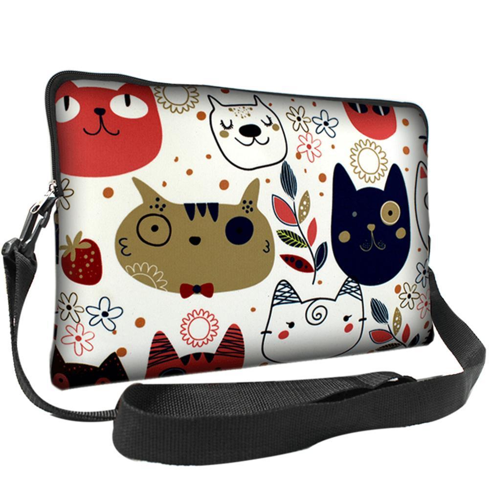41dbef3d5 → Capa De Notebook Com Alça De Ombro - Cats - 14