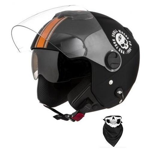 b44d1ffca1feb Capacete Aberto Pro Tork New Atomic Skull Riders Vintage Fosco é bom  Vale  a pena