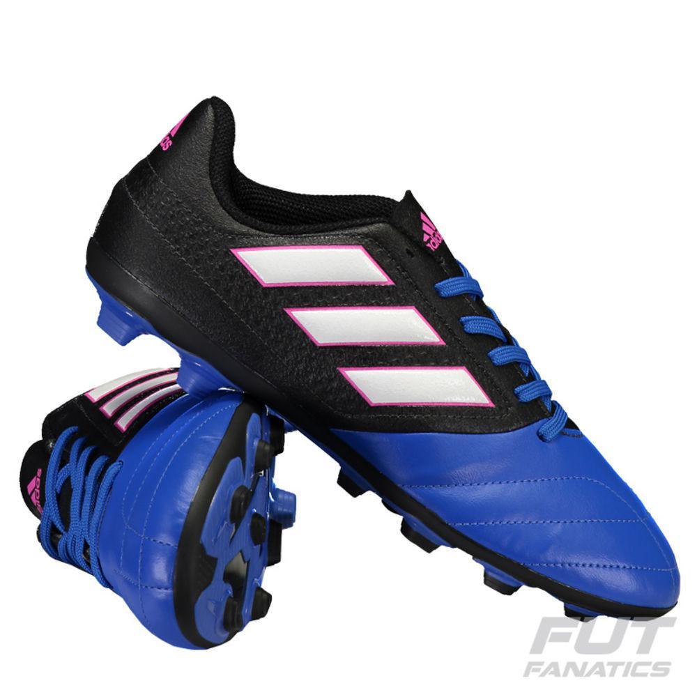 686d8b0c26371 → Chuteira Adidas Ace 17.4 Fxg Campo Azul Juvenil É BOM  VALE A ...