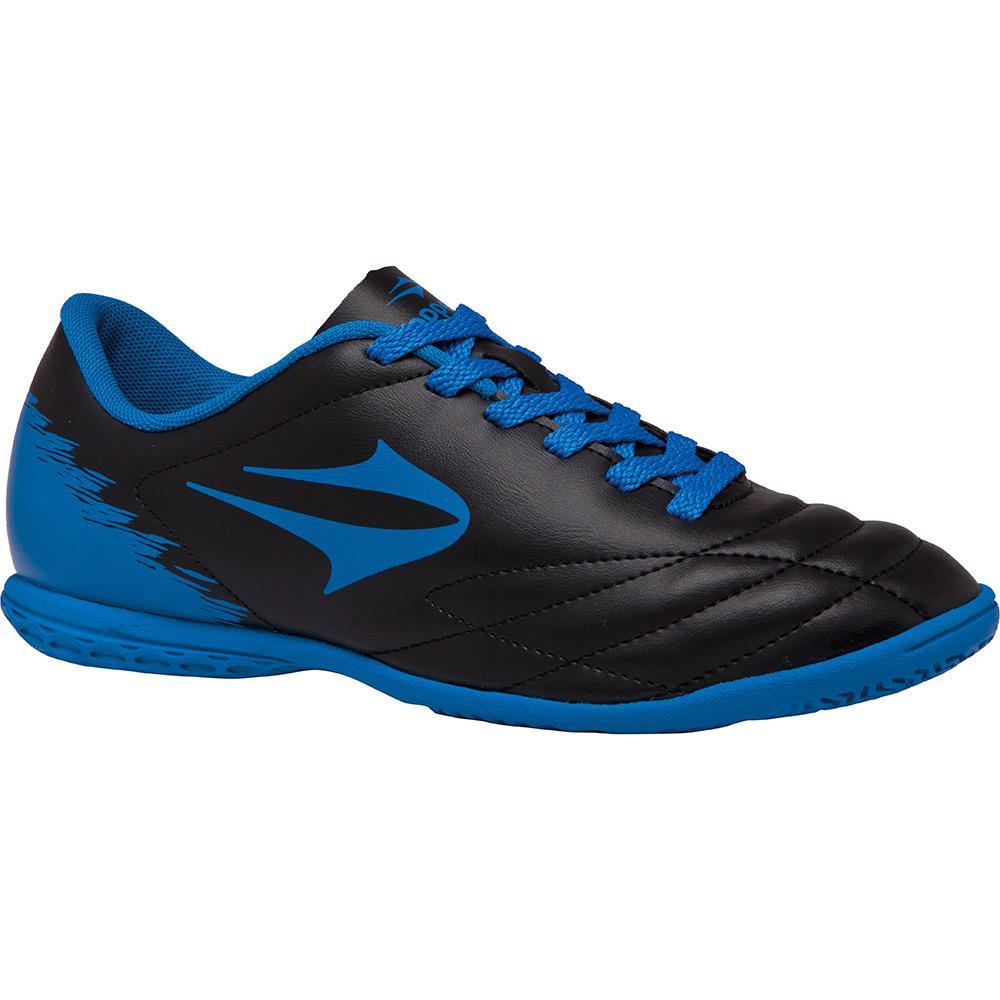 → Chuteira Topper Indoor Slick II Júnior Preto Azul é bom  Vale a pena  43e49f4d60d7f