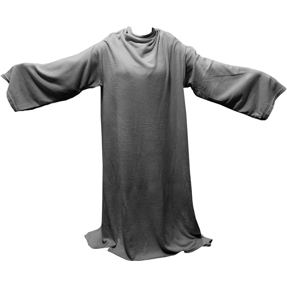 5d4a0886c2 → Cobertor Solteiro com Mangas TV Cinza - Loani é bom  Vale a pena