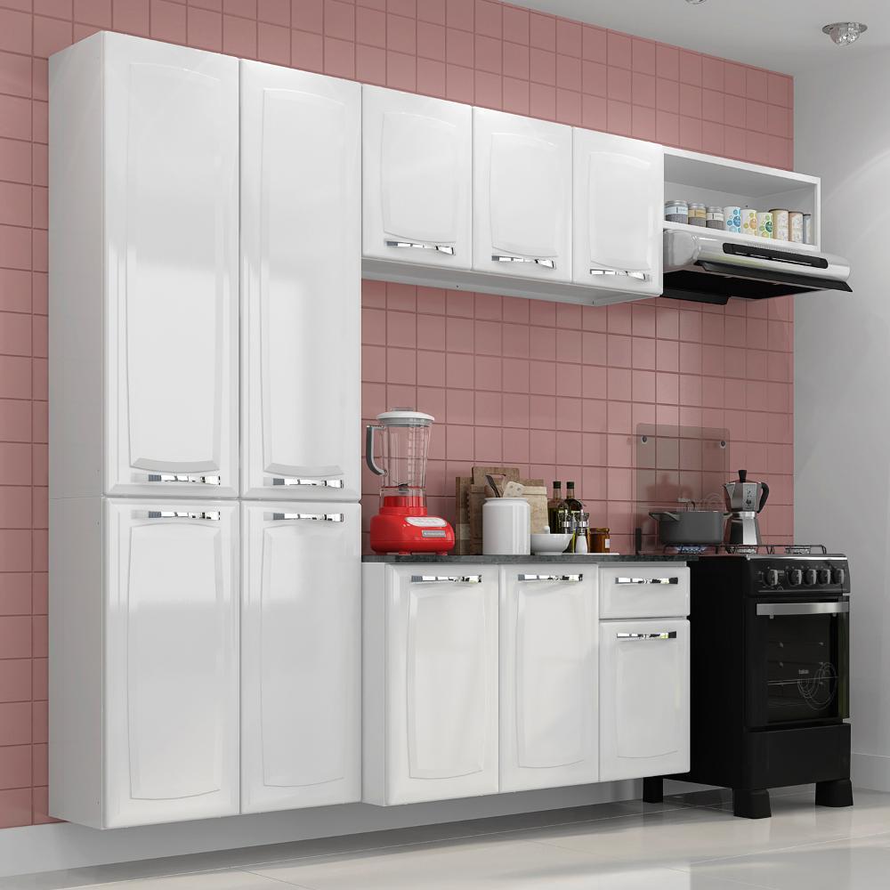 Conjunto Cozinha Itatiaia Amanda 4 Pe As Branco Paneleiro
