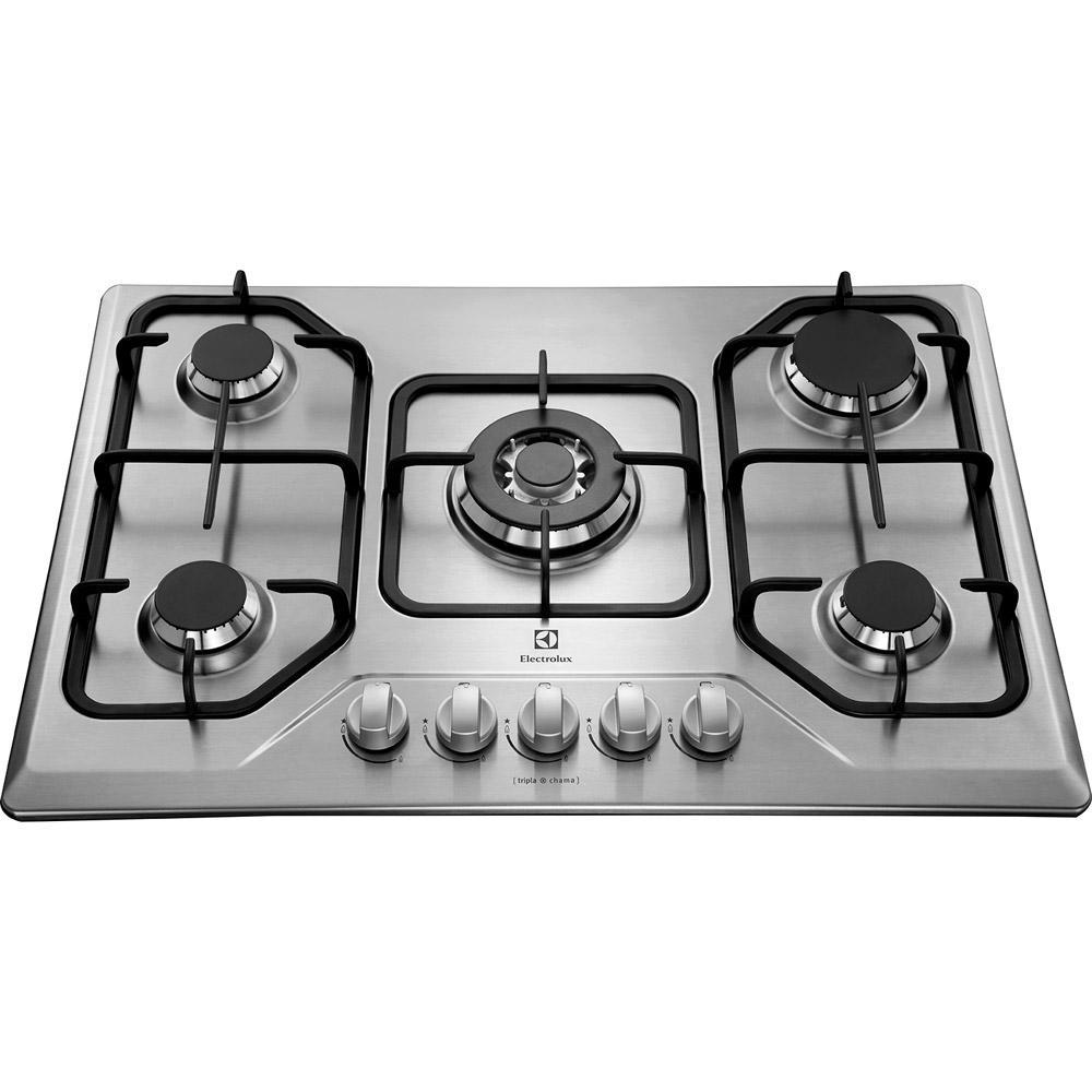 60c693e66 → Cooktop à Gás Electrolux 5 Bocas GT75X Bivolt Inox é bom  Vale a ...