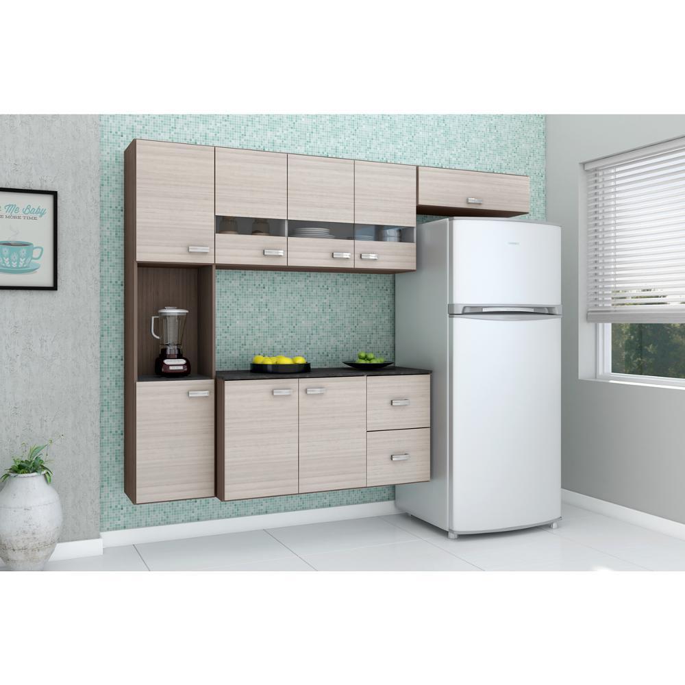 Cozinha Compacta Julia Composta Por 4 Pe As Com 2 Gavetas 8