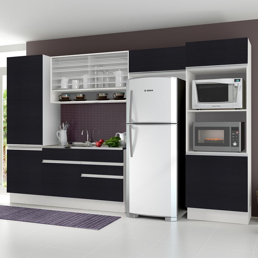 Cozinha Compacta Luana Madesa N O Acompanha Tampo De Pia Branco