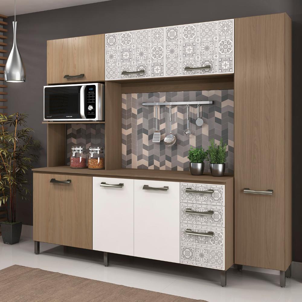 Cozinha Completa Sense E780 Kappesberg Nature Branco Azulejo