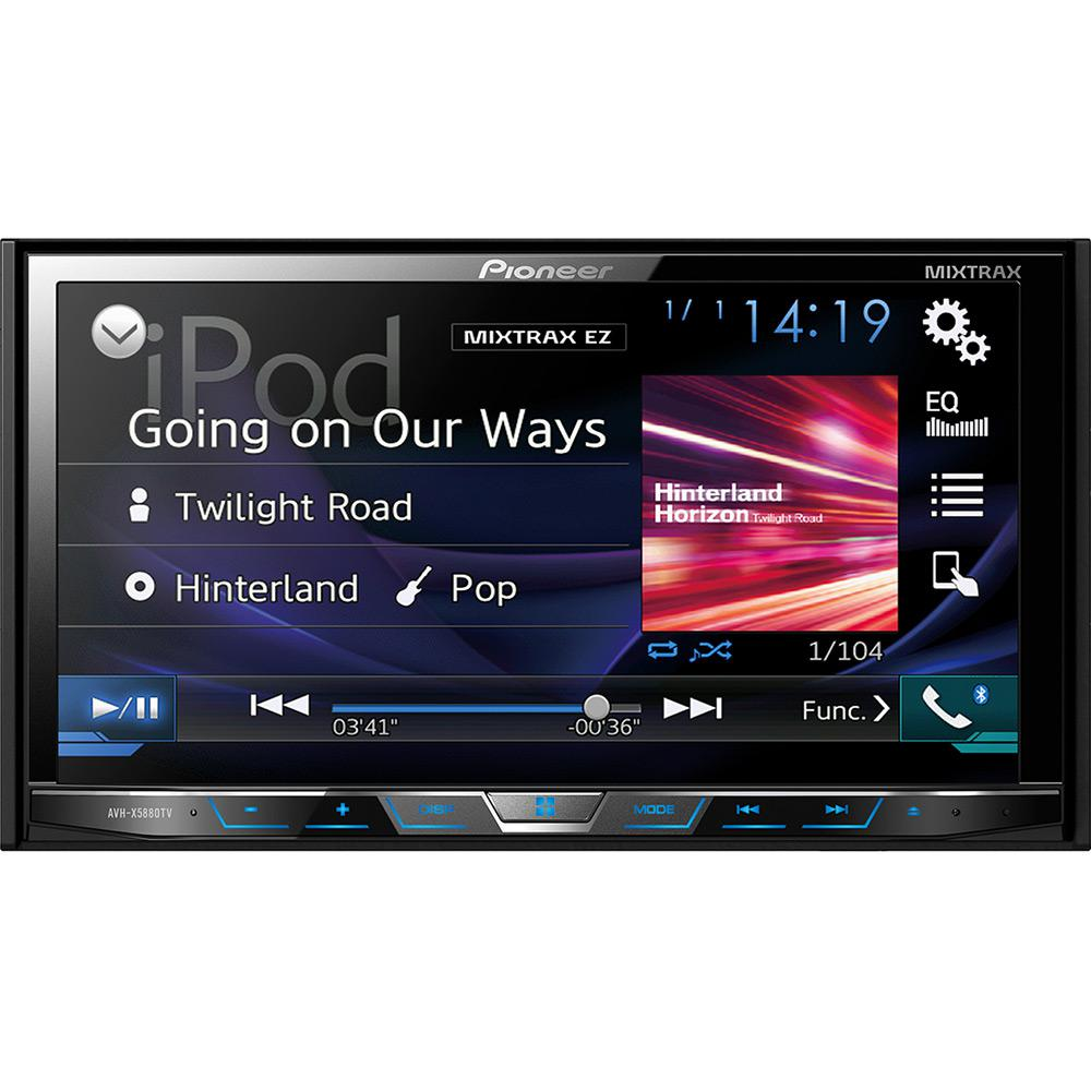 4f4046877 DVD Player Automotivo Pioneer Avh-X5880Tv 2-Din com TV Digital Bluetooth  USB 7 Polegadas e Mixtrax é bom  Vale a pena