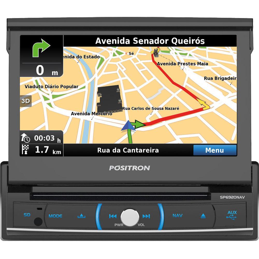 c5a6ea13e8 DVD Player Automotivo Positron com Controle Remoto Tela 7