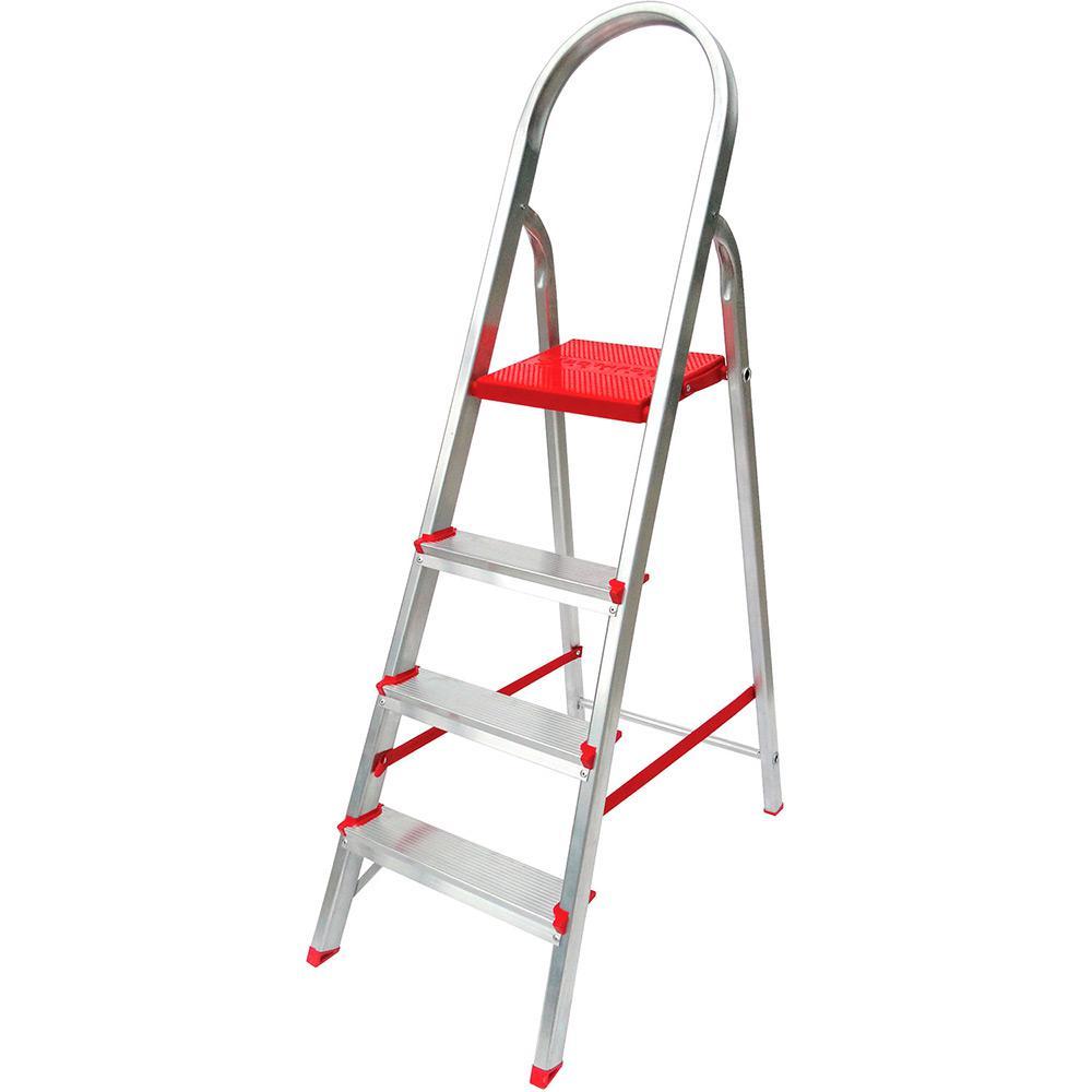 a2d301ffc1 Escada de 4 Degraus Botafogo Lar Lazer Suprema - Alumínio é bom  Vale a  pena