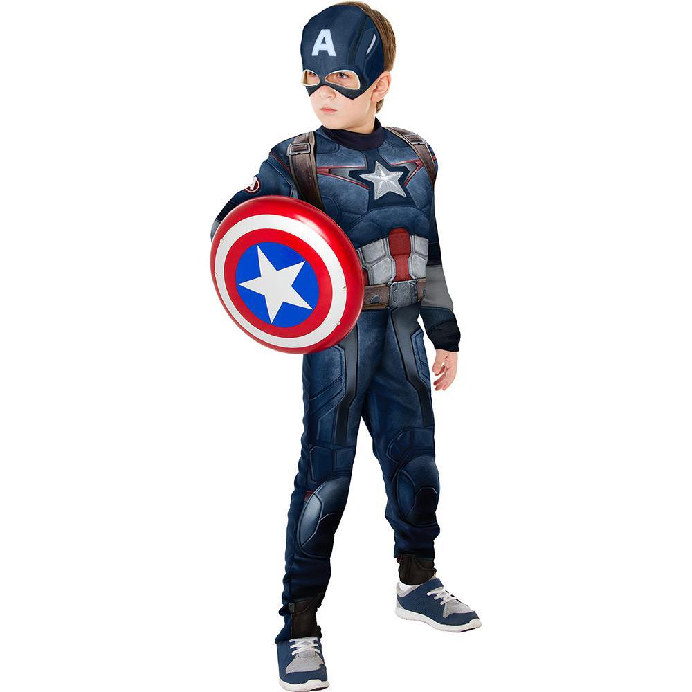 94821e44920 Fantasia Infantil Capitão América Longa com Escudo - Rubies é bom  Vale a  pena