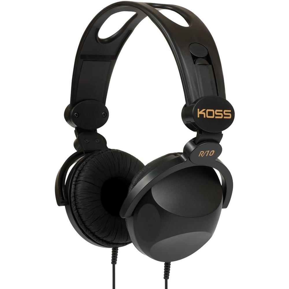 Fone de Ouvido Koss R 10 Over-Ear Headphone Preto Haste Ajustável é bom   Vale a pena  cb337b530369d