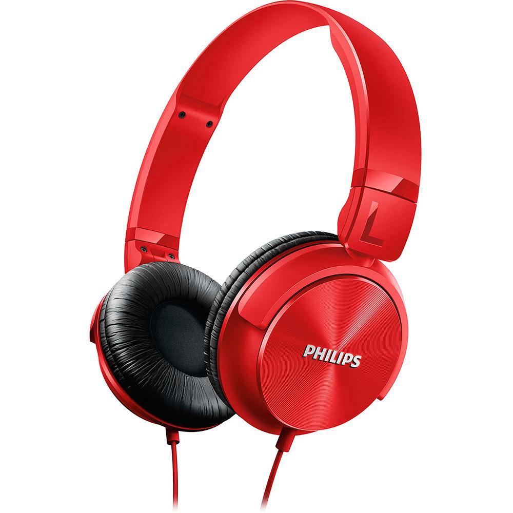 Fone de Ouvido Philips SHL3060RD 00 Over Ear Vermelho é bom  Vale a pena  73315ee5edc89