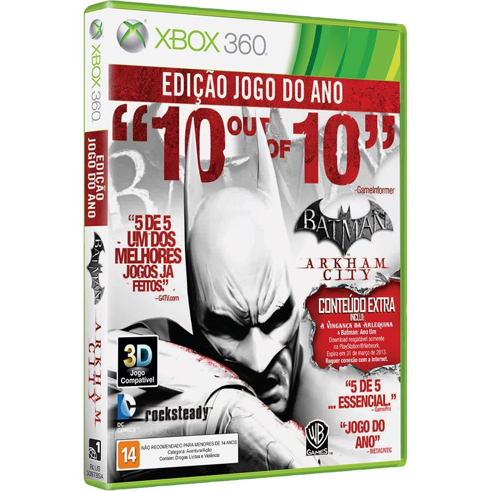 Game batman arkham city edição jogo do ano xbox é