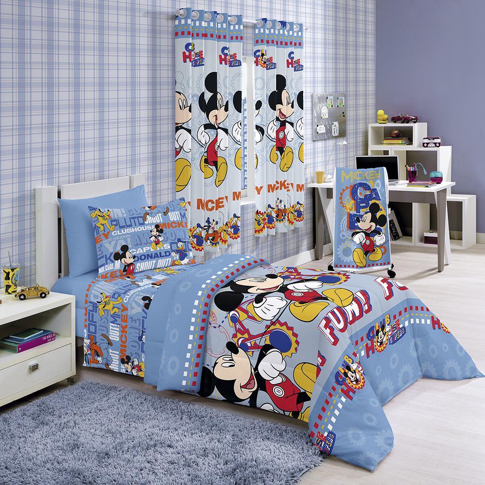 3529b5c75a Jogo de Cama Infantil Disney Light Mickey Club 3 Peças - Santista é bom   Vale