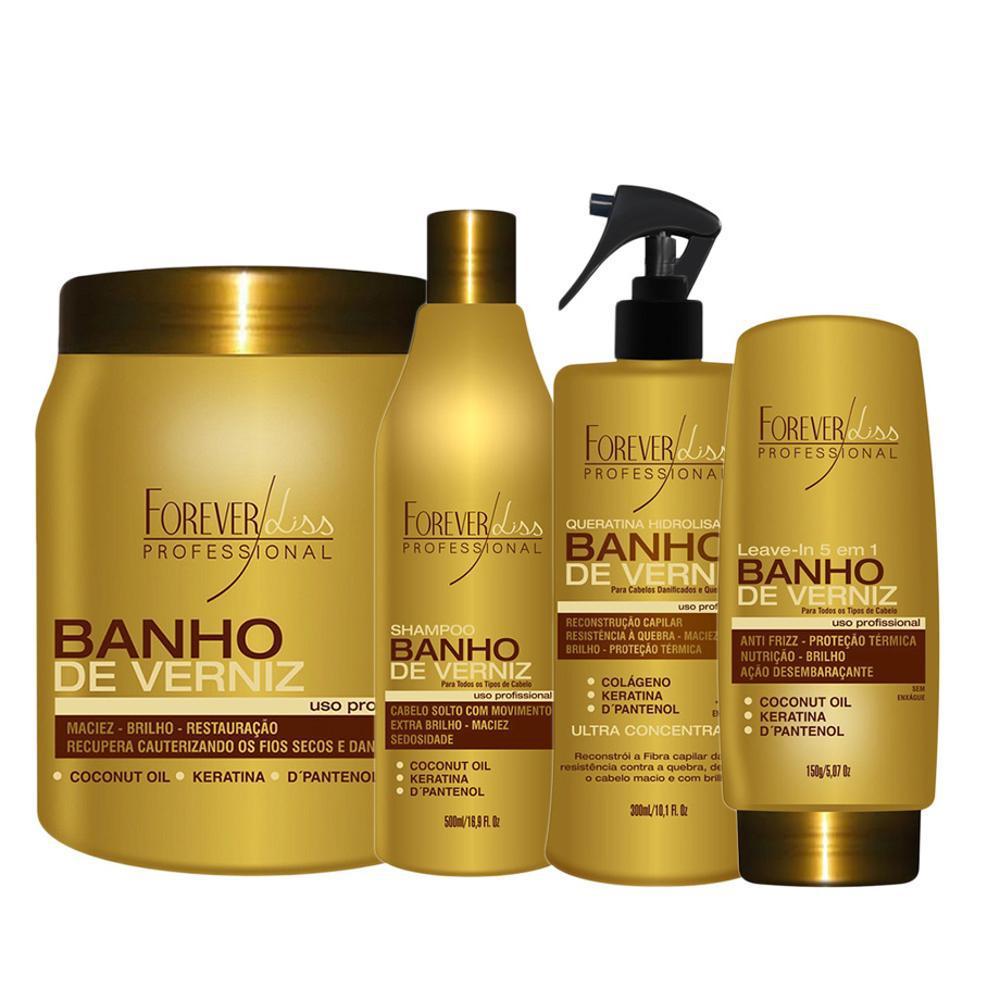 e5bd274c08912 Kit Banho De Verniz Máscara 1kg, Shampoo, Queratina E Leave In Hidratação  Profunda Forever Liss é bom? Vale a pena?
