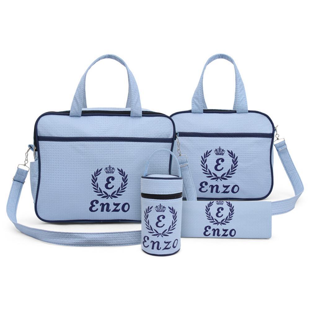 d0b5e3e4e Kit Bolsa Maternidade Azul Bebê Personalizada - 4 Peças é bom? Vale a pena?