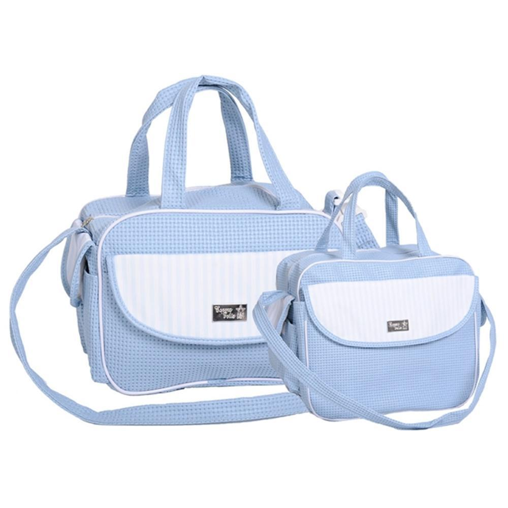 2fb42f9651 → Kit Bolsa Maternidade - Baby Classic - Azul É BOM  VALE A PENA