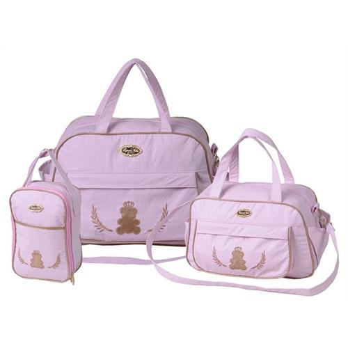bb2757b907 → Kit Bolsa Maternidade Rosa - Lovely Baby é bom  Vale a pena