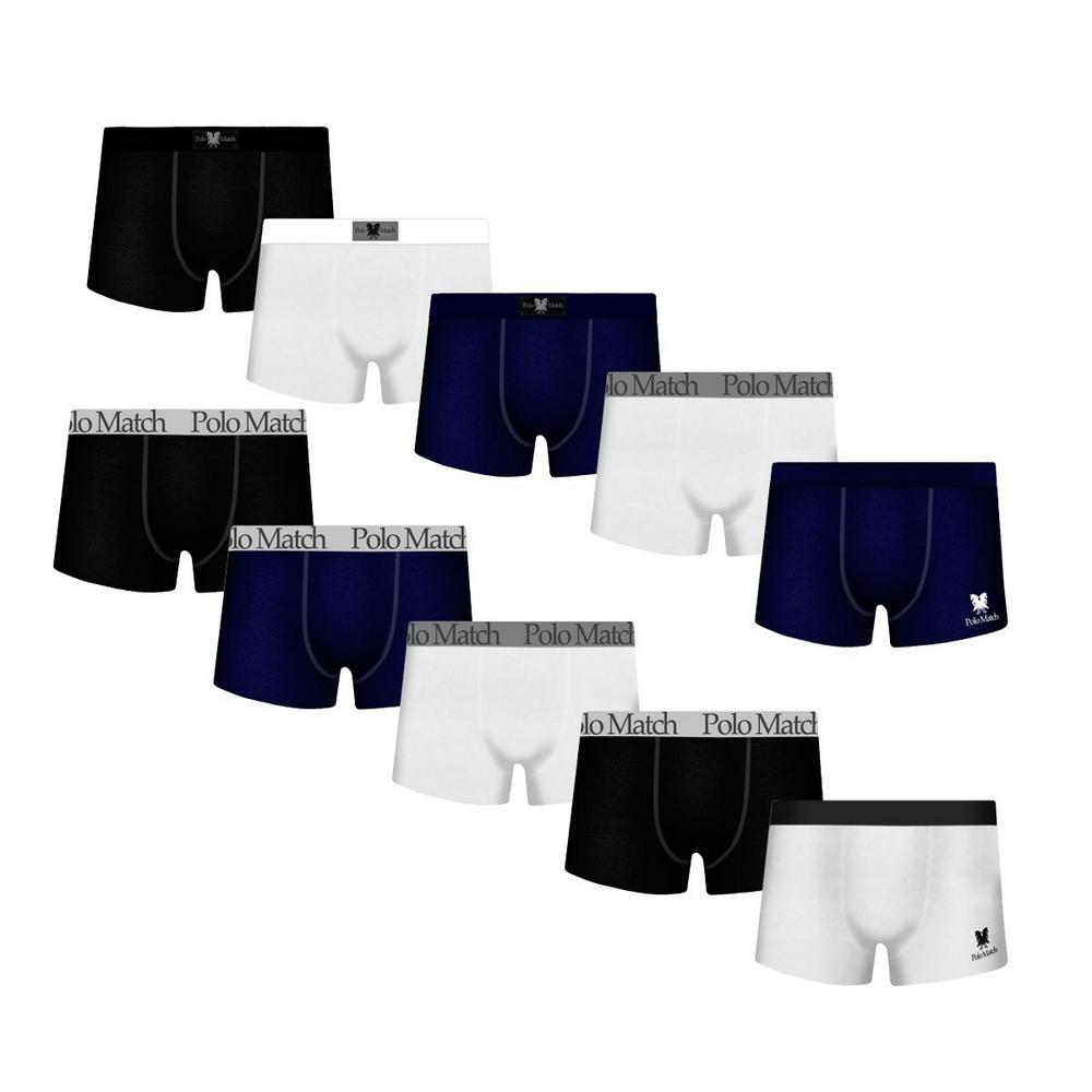 15376682c → Kit Com 10 Cuecas Boxer De Cotton - Polo Match é bom  Vale a pena