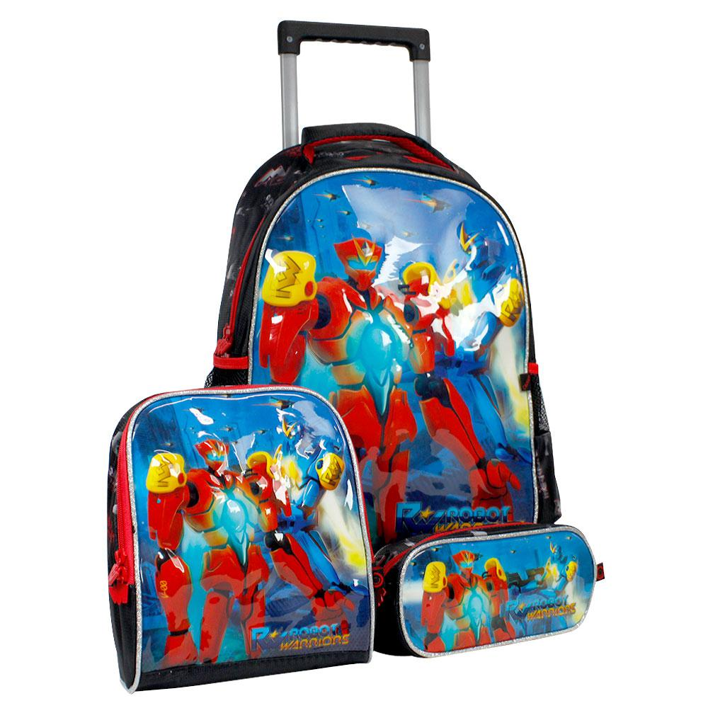 3d68e3f40 Kit Escolar Robot Warriors Mochilete Lancheira E Estojo Rw6182k Vermelha é  bom? Vale a pena?