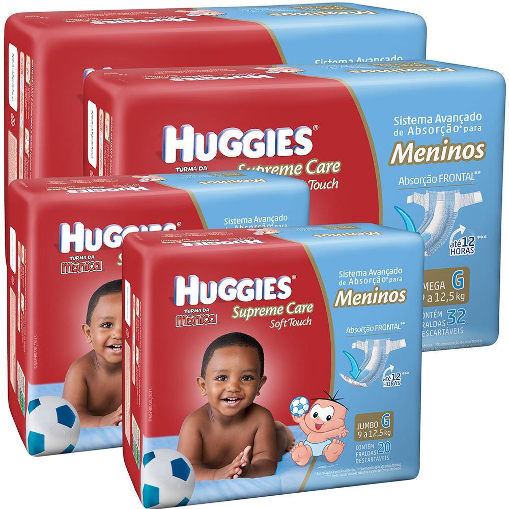 b1b14f87b Kit Leve Mais Pague Menos - 2 Fraldas Huggies Supreme Care Soft Mega Menino  G +