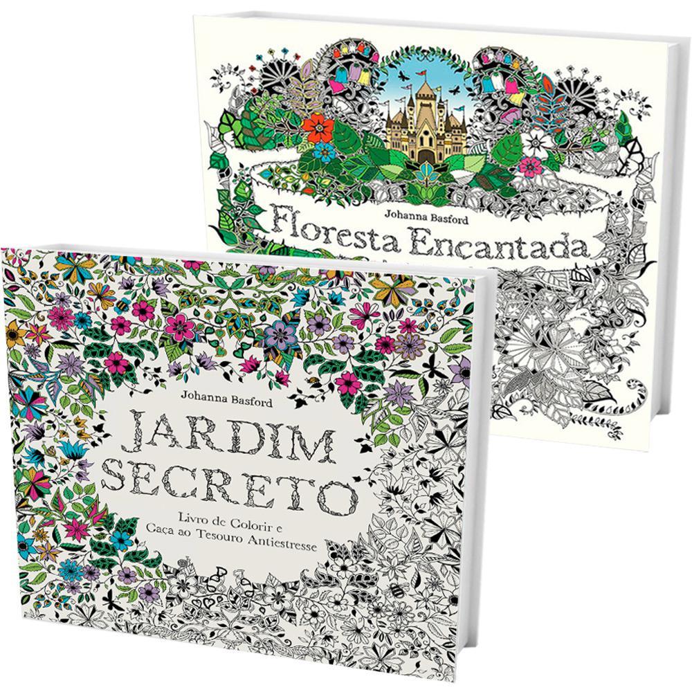 Kit Livros Jardim Secreto Floresta Encantada 2 Volumes E